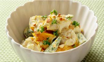 カレー風味夏野菜サラダ