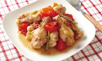 トマトと手羽元の梅煮