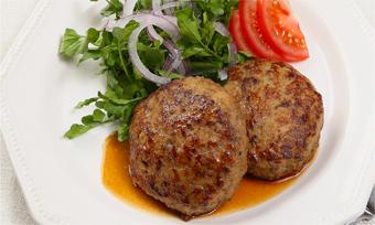 鴨ひき肉でつくるハンバーグ