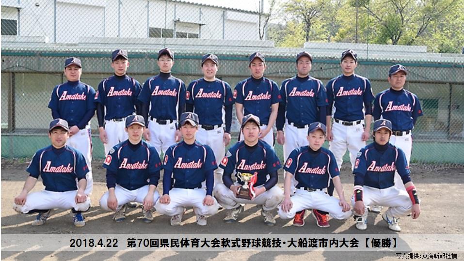 野球部 県民体軟式野球市内大会 優勝!
