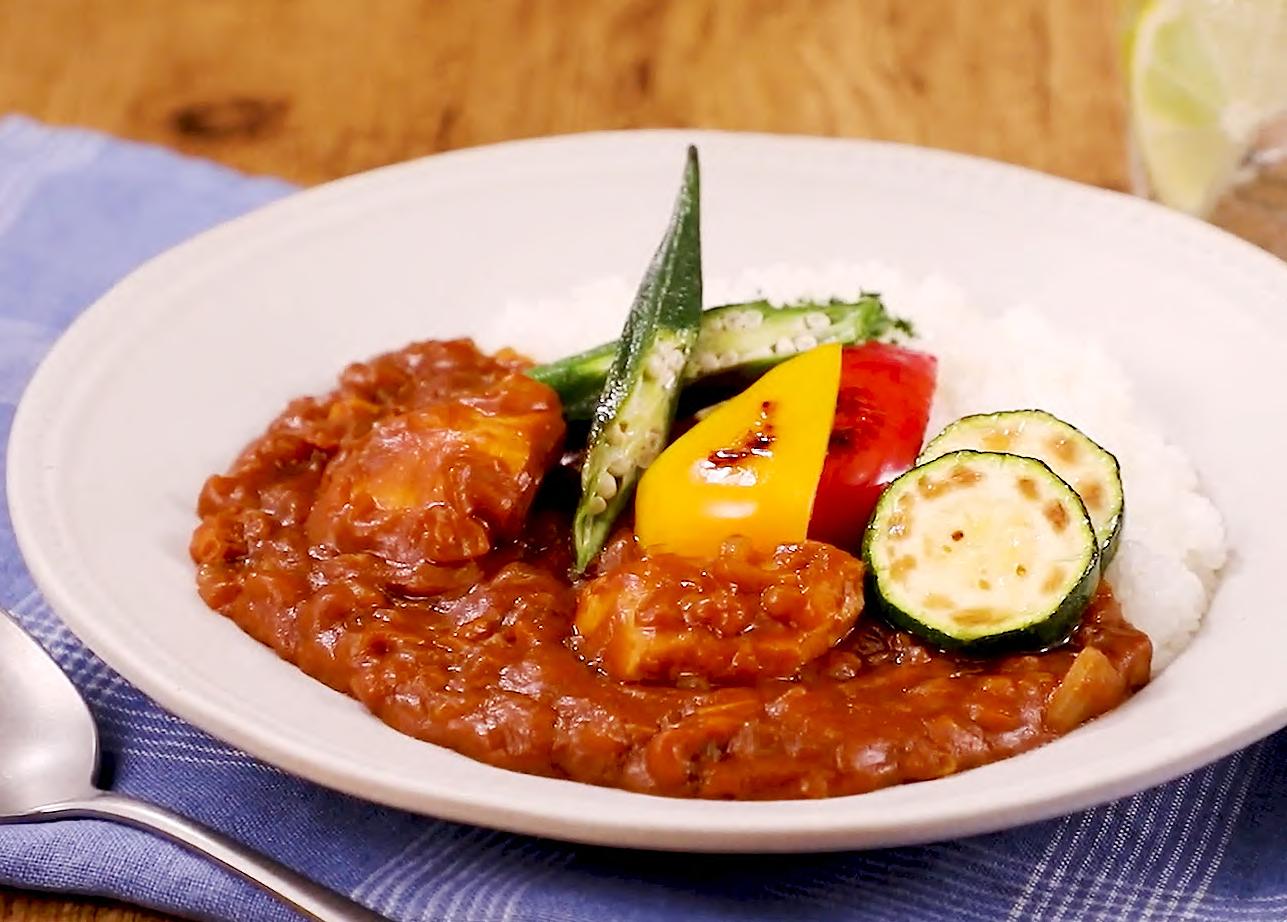 ⦅動画⦆夏野菜のチキンカレー