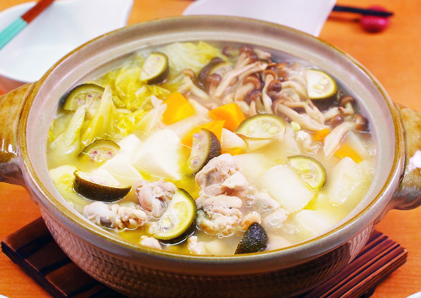《動画》鶏鍋つゆ塩でつくる ゆず塩鍋